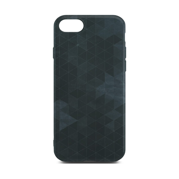 Black Polygon Slim Case For iPhone 8