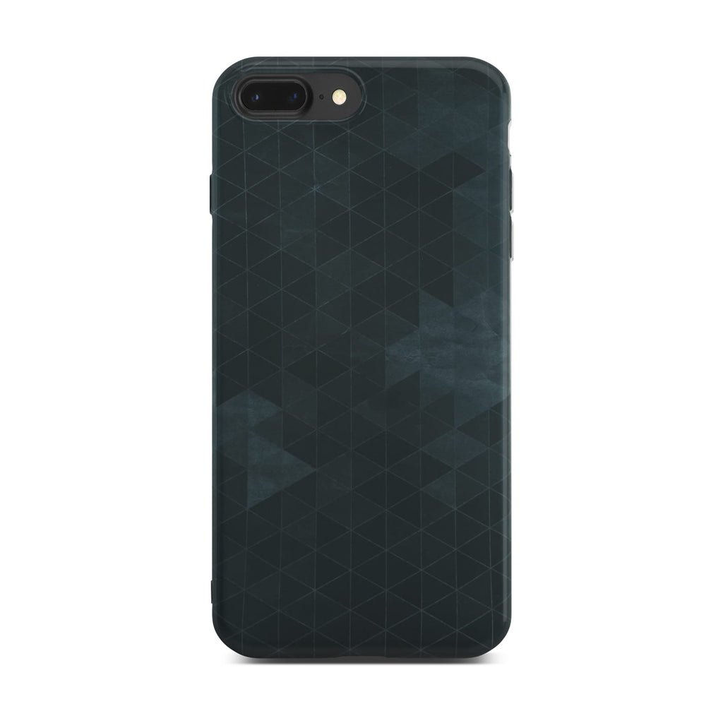 Black Polygon Slim Case On Space Gray iPhone 8 Plus