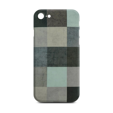 Abstract Color Block Slim Case For iPhone 8