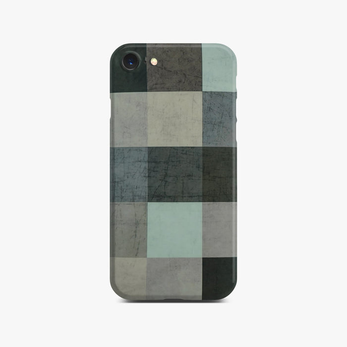 Abstract Color Block Slim Case on Space Gray iPhone 8