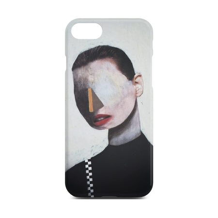 White Abstract Portrait Slim Case