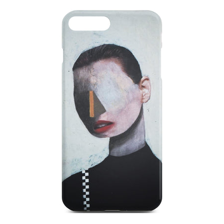 White Abstract Portrait Slim Case for iPhone 8 Plus