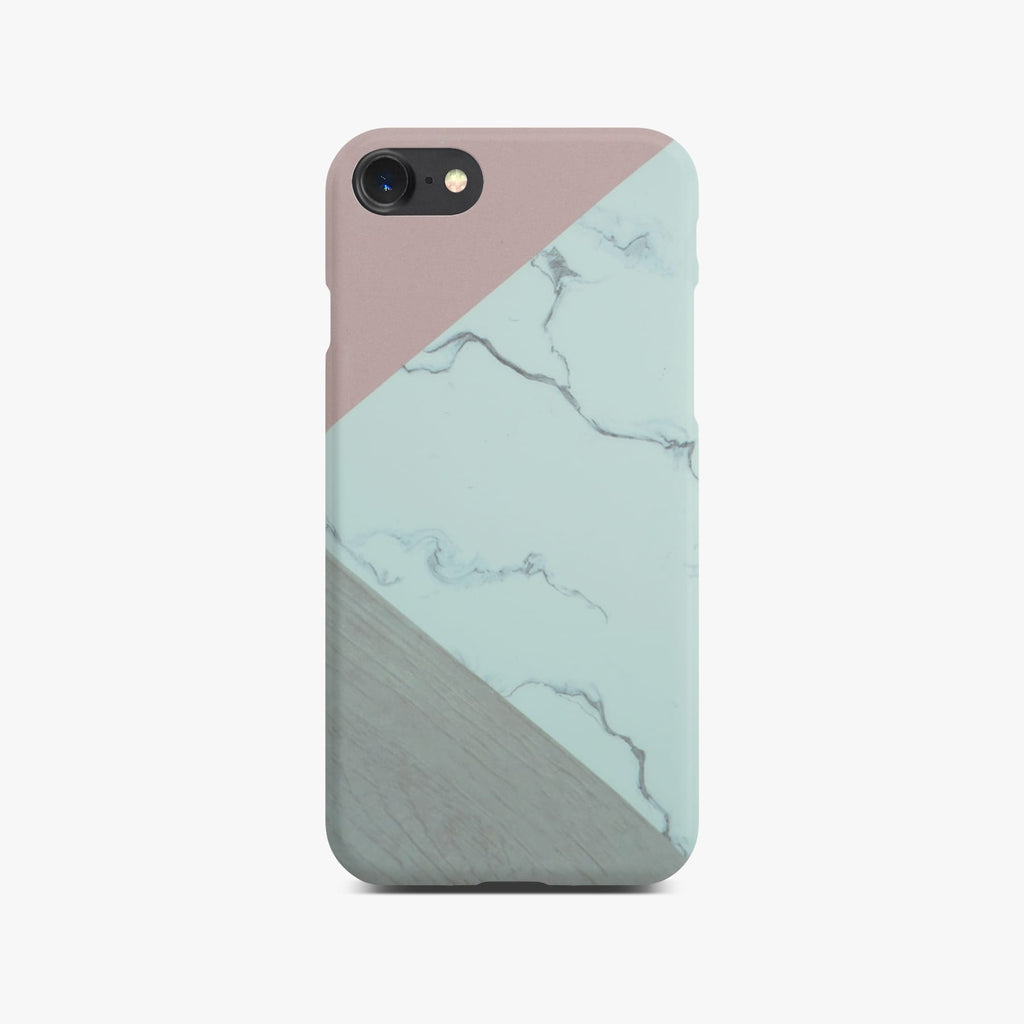 Abstract Pink Marble Slim Case On Black iPhone 8