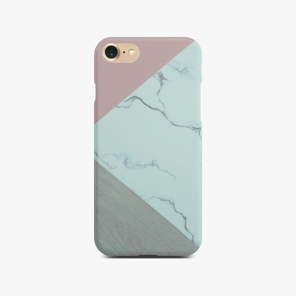 Abstract Pink Marble Slim Case On Gold iPhone 8