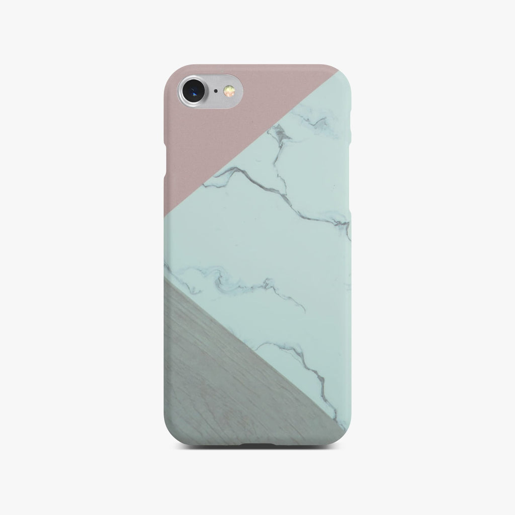 Abstract Pink Marble Slim Case On Silver iPhone 8