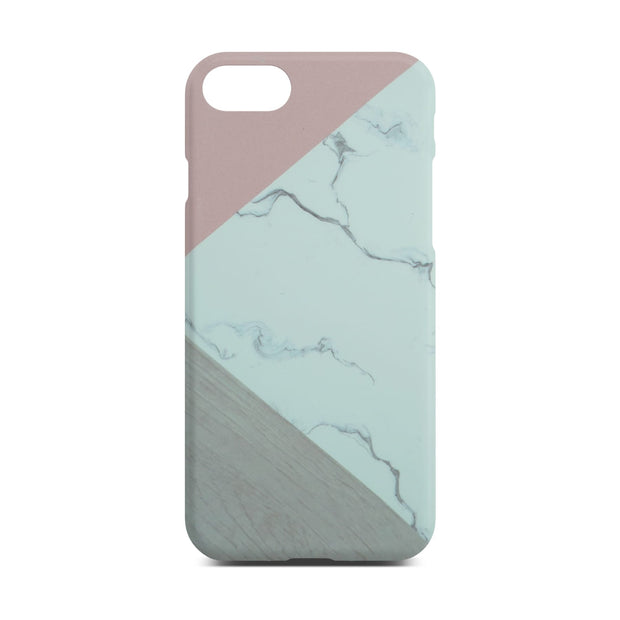 Abstract Pink Marble Slim Case For iPhone 8