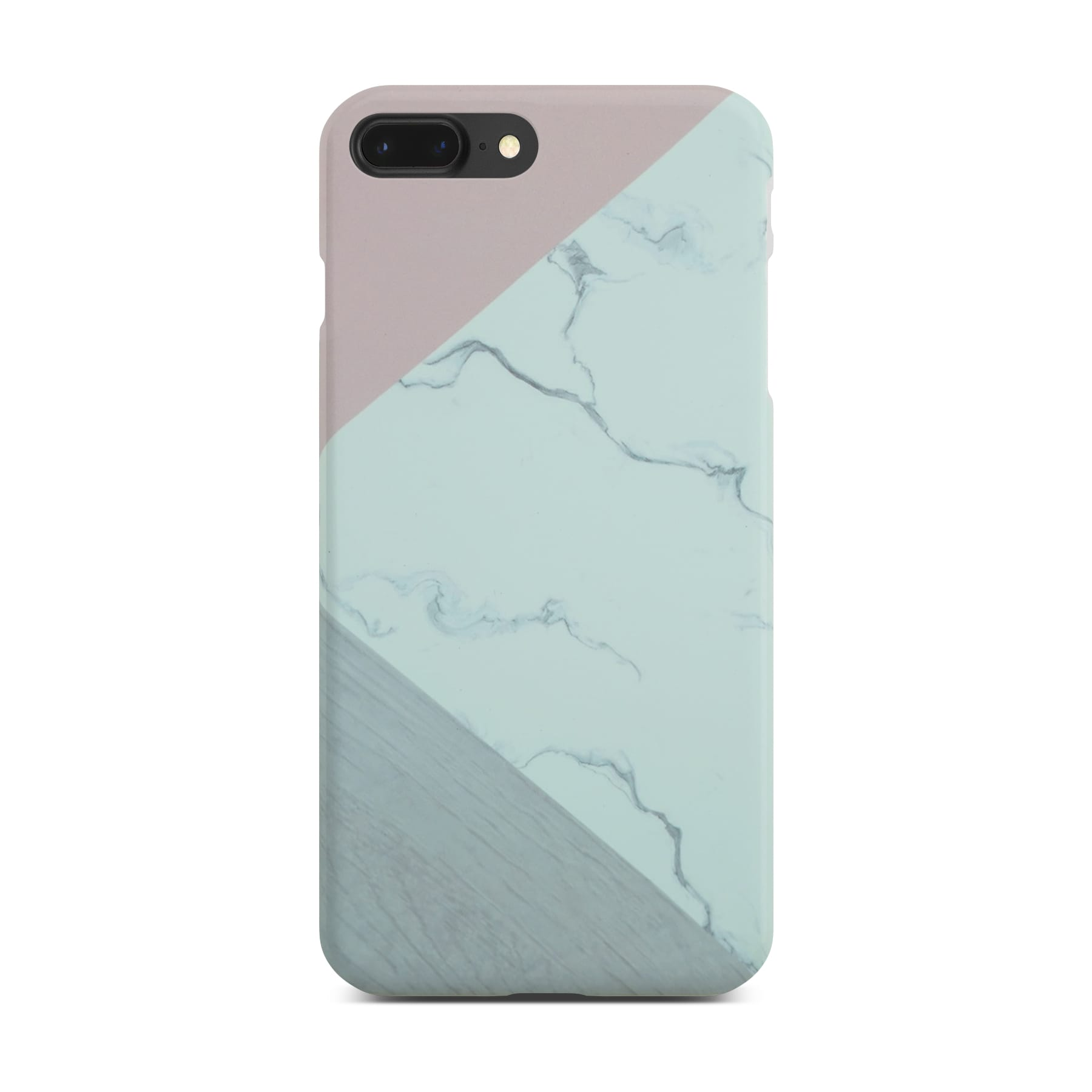 Abstract Pink Marble Slim Case On Black iPhone 8 Plus