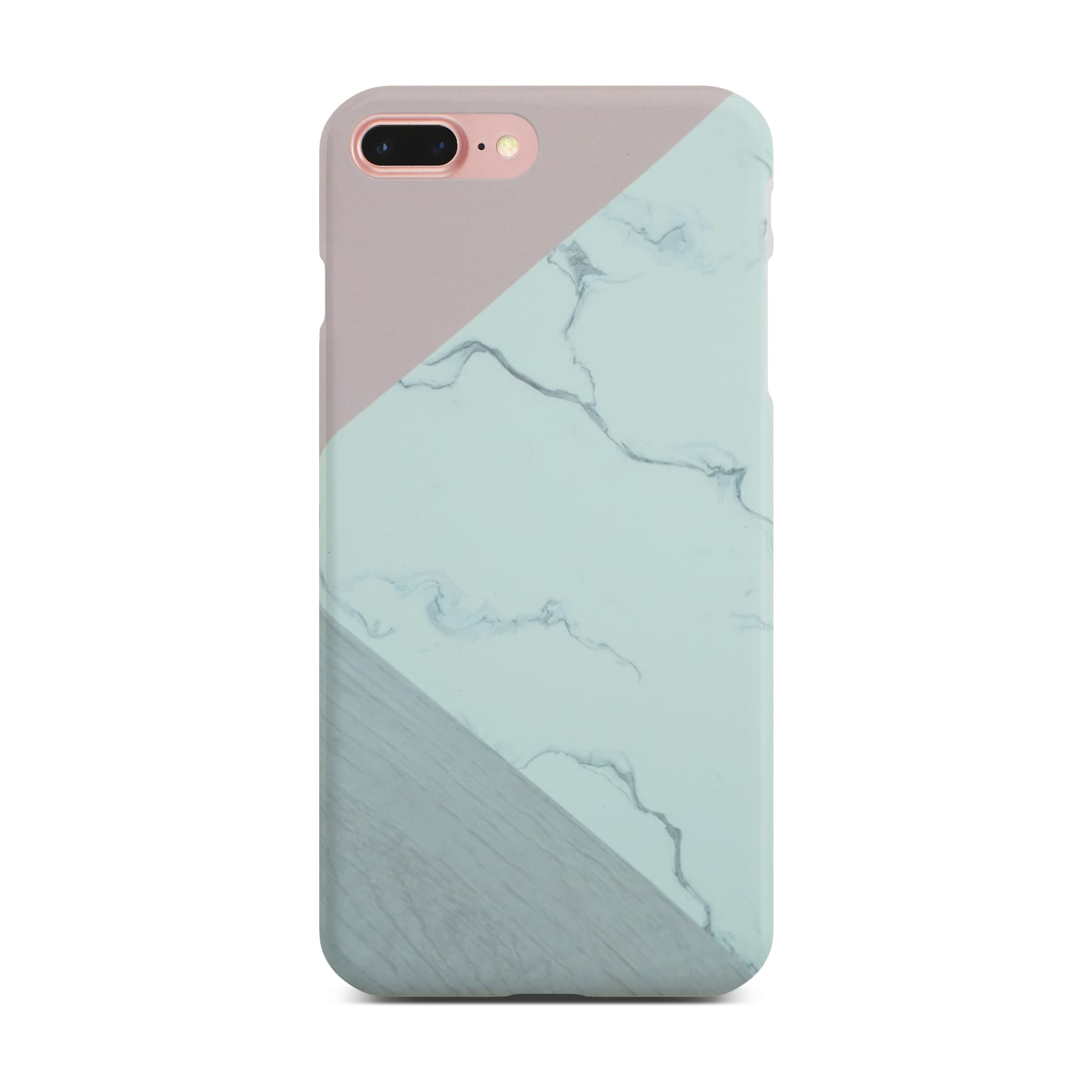 Abstract Pink Marble Slim Case On Rose Gold iPhone 8 Plus