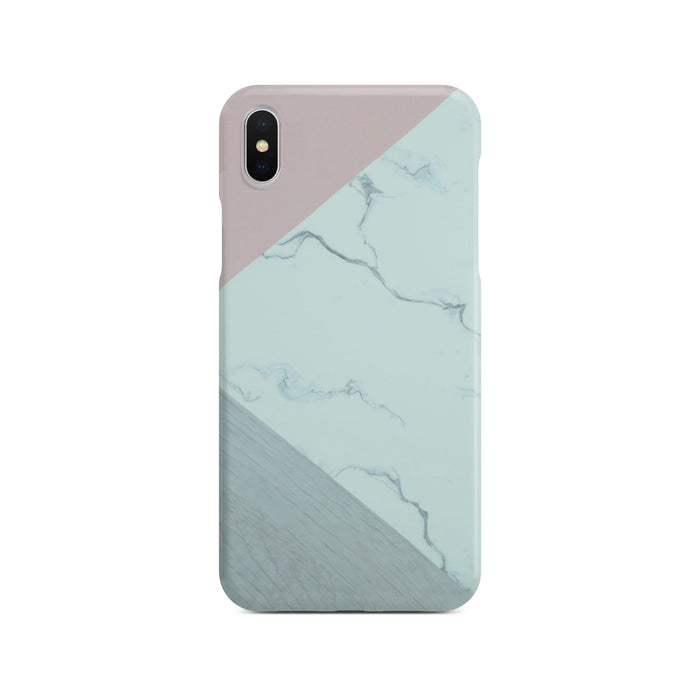 Abstract Pink Marble Slim Case On Silver iPhone X