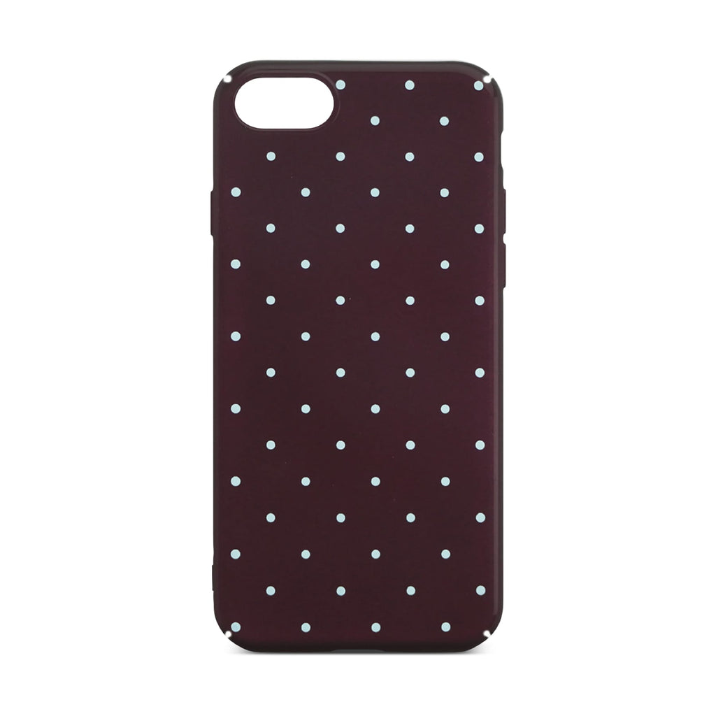 Red Dotty Slim Case For iPhone 8