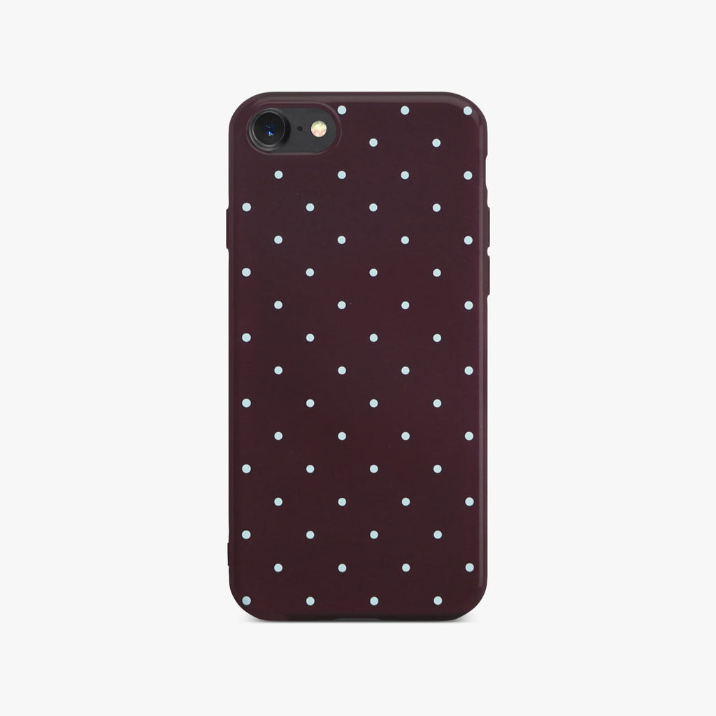 Red Dotty Slim Case On Space Gray iPhone 8
