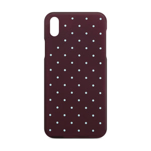 Red Dotty Slim Case For iPhone X