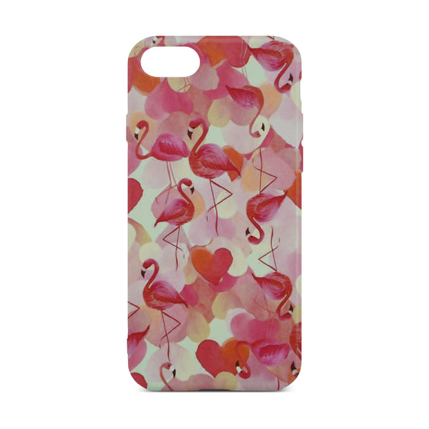 Red Flamingo Slim Case For iPhone 8