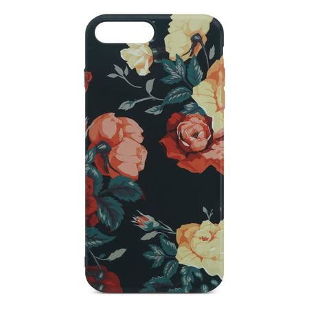 Black Flower Slim Case For iPhone 8 Plus