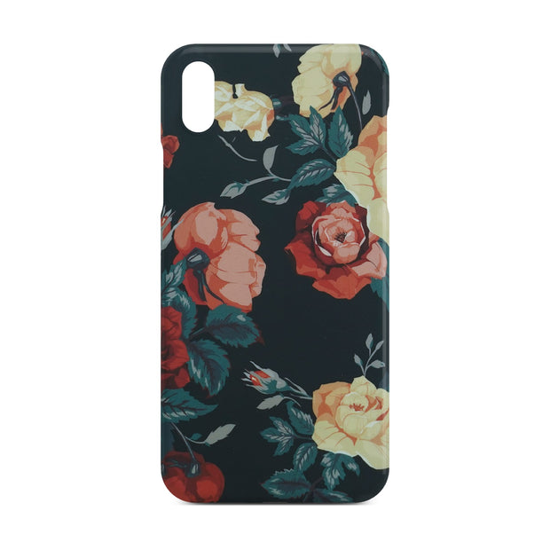 Black Flower Slim Case For iPhone X