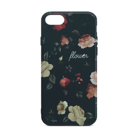 Black Flower Slim Case 2 For iPhone 8