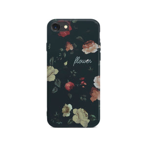 Black Flower Slim Case 2 On Space Gray iPhone 8