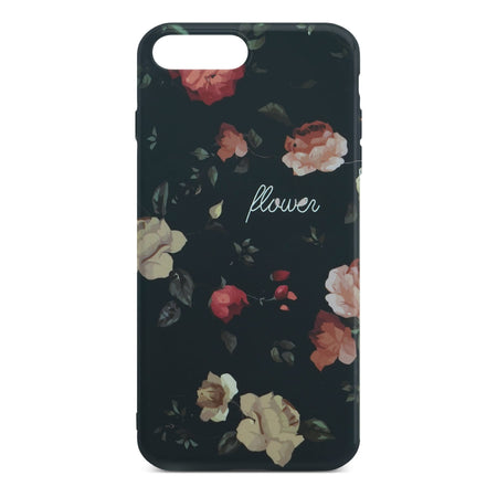 Black Flower Slim Case 2 For iPhone 8 Plus
