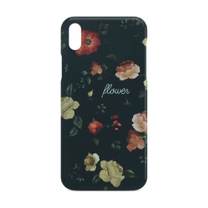 Black Flower Slim Case 2 For iPhone X