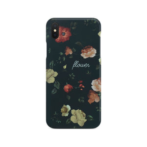 Black Flower Slim Case 2 On Space Gray iPhone X