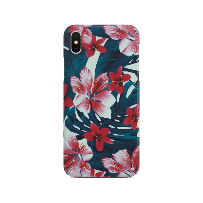 Colorful Flower Slim Case On Silver iPhone X