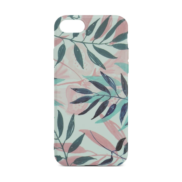 Leaf Flower Slim Case For iPhone 8
