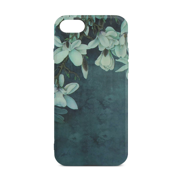 Dark Green Flower Case For iPhone 8