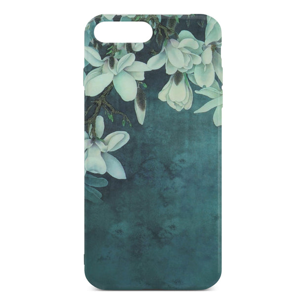 Dark Green Flower Slim Case For iPhone 8 Plus