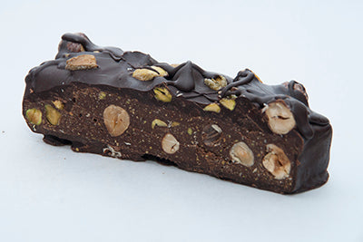 HNINA Raw Dark Chocolate Healthy  and sprouted pistachios and sprouted hazelnuts bricks