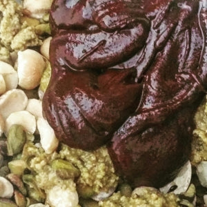 Sprouted nuts and raw chocolate the most delicious nutrients dense plant based ganache