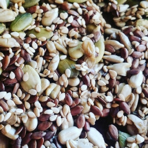 Sprouted pumpkin in our sprouted trail mix snacks