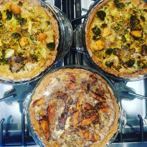 Vegan paleo sugar free dairy free vegetables quiches