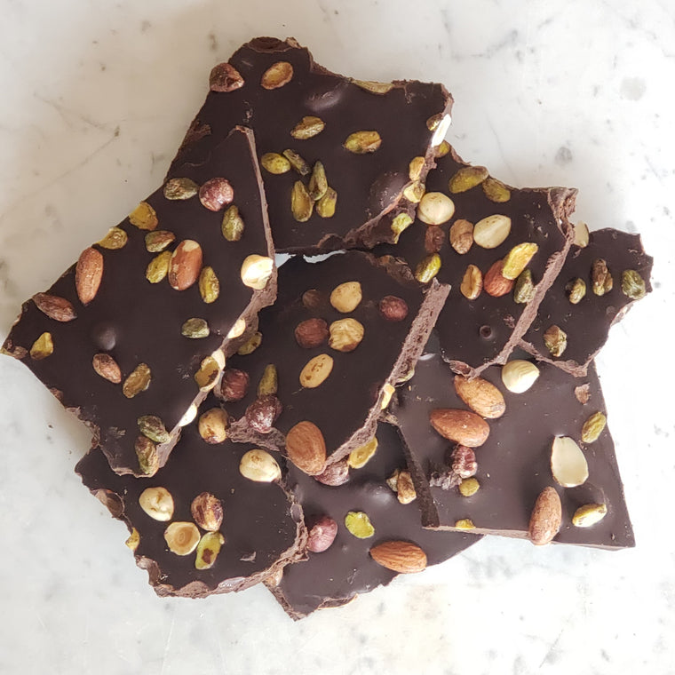 Raw chocolate sprouted bark