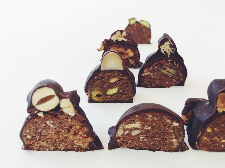 Raw Chocolate Truffles Assortment Bag - 7 Pebbles