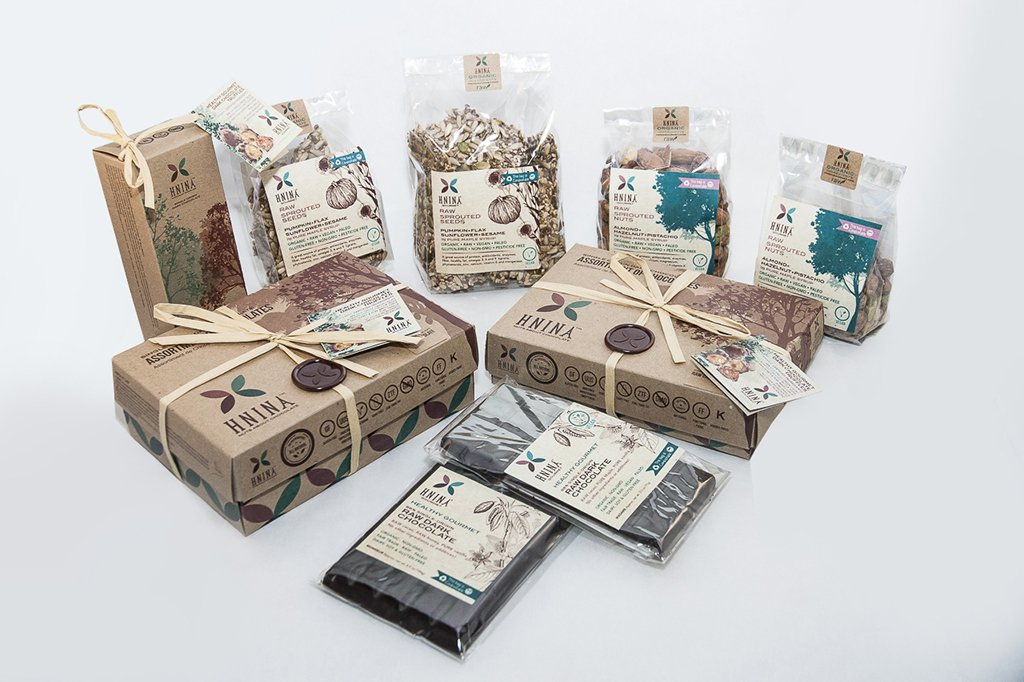 HNINA Organic Fairtrade Raw Dark Chocolate specialties are Free of sugar, emulsifier, dairy, preservatives include our sprouted seeds snacks, sprouted nuts snacks, pure raw dark chocolate, pure raw dark chocolate truffles made with sprouted nuts or sprouted seeds. This is perfect if you need to preserve your health and want to eat delicious food.  This can stop your sugar cravings by nourishing you with real nutrients dense foods. Get your body nourished with pure gourmet divine treats.