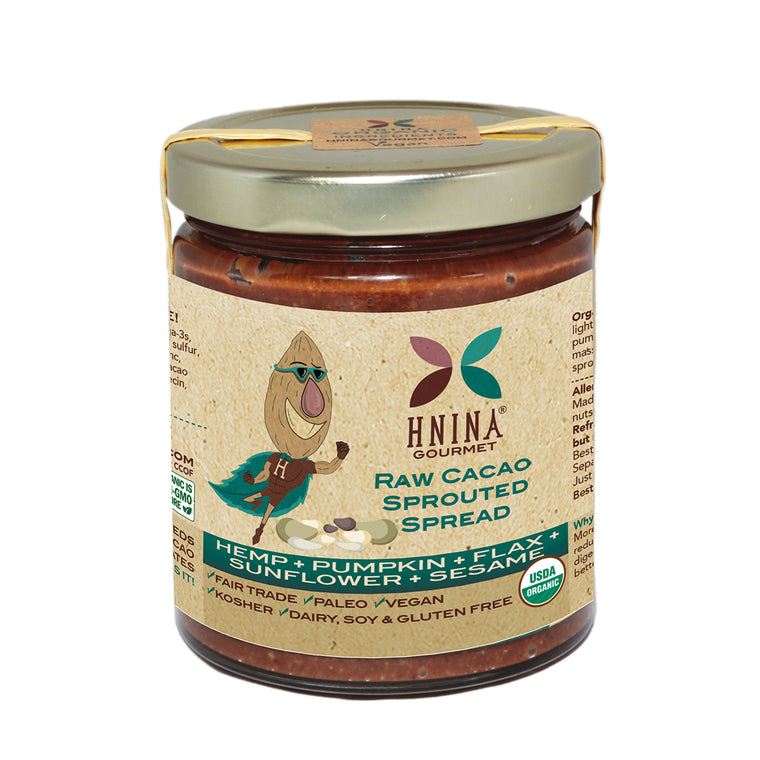 Raw Cacao Sprouted Seeds Spread: HEMP + PUMPKIN + FLAX + SUNFLOWER +SESAME