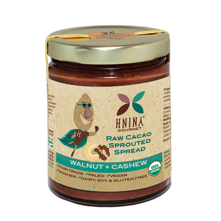 Raw Cacao Sprouted Spread: WALNUT + CASHEW