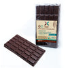 HNINA Organic Fairtrade Raw Dark Chocolate Madame Bars that are Free of sugar, emulsifier, dairy, preservatives and are enclosed into a wood cellulose compostable packaging.
