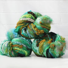Farm Fluff // Art Batt for spinning & felting // Emerald