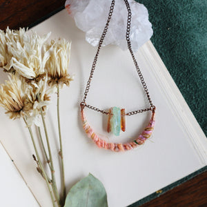 Fiber Art Necklace // Aromatherapy diffuser // Handmade in Denver, CO