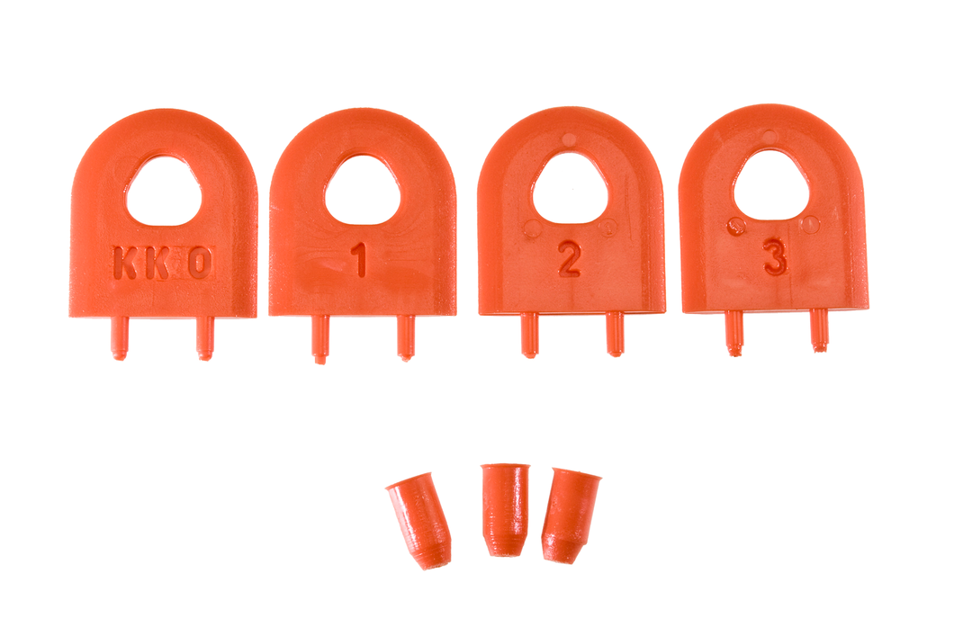 MJ SPLITTER Replacement SteelPro Kerf Keepers (Orange)