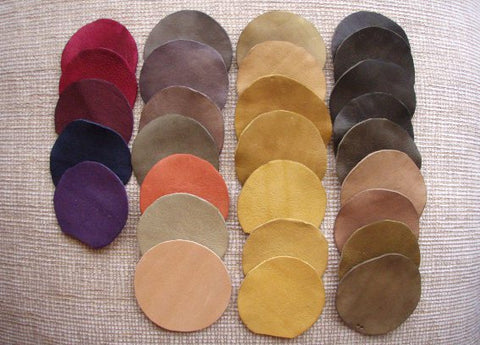 Vegetable Tanned Leather Colours