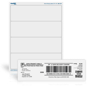 "2 1/2"" x 8"" Shipping Labels"