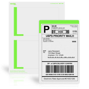 "4 1/4"" x 6 3/4"" Premium Shipping Labels"