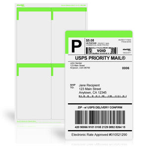 "4"" x 6 1/2"" Premium Shipping Labels, 200 Labels (SDC-4610)"