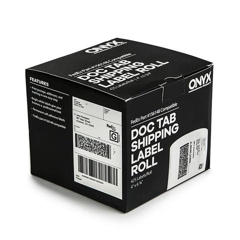 "ONYX Products® 4"" x 6 3/4"" FedEx DocTab Shipping Label Rolls, 425 Labels/Roll"