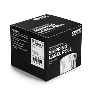 "ONYX Products® 4"" x 6"" Zebra/Eltron Compatible Shipping Label Rolls, 500 Labels/Roll"
