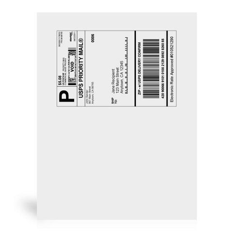 "8 1/2"" x 11"" Shipping Labels, 25 Labels"