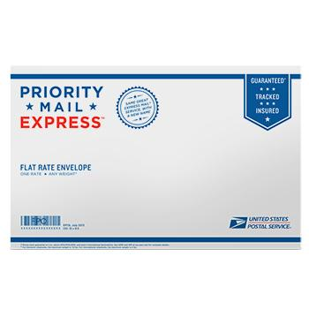 "Priority Mail Express Flat Rate Legal Size Envelope 15"" x 9 1/2"", 10/pack"