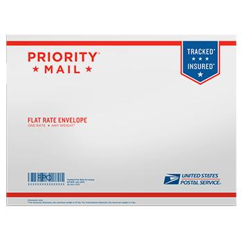 "Priority Mail Flat Rate Padded Envelope 12 1/2"" x 9 1/2"", 10/pack"